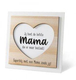 Houten fotolijstje 'Mama'