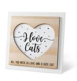 Houten fotolijstje 'Cat'