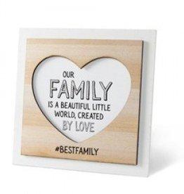 Houten fotolijstje 'Family'