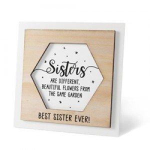 Houten fotolijstje 'Sister'