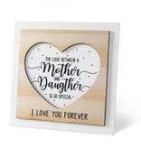Houten fotolijstje 'Mother & Daughter'