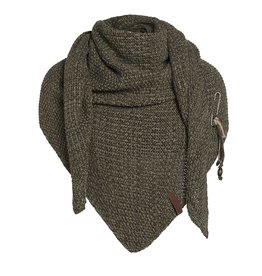 Coco omslagdoek - groen/olive - Knit Factory