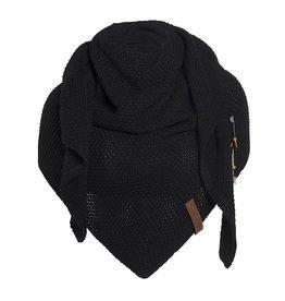 Coco omslagdoek - zwart - Knit Factory