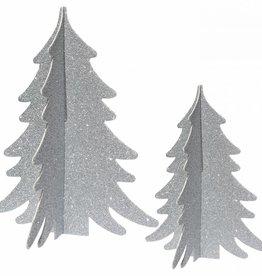 Decor trees silver glitter