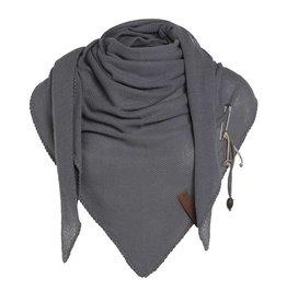 Lola omslagdoek - Med Grey - Knit Factory