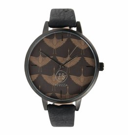 Hip horloge - zwart kraanvogel - Zusss