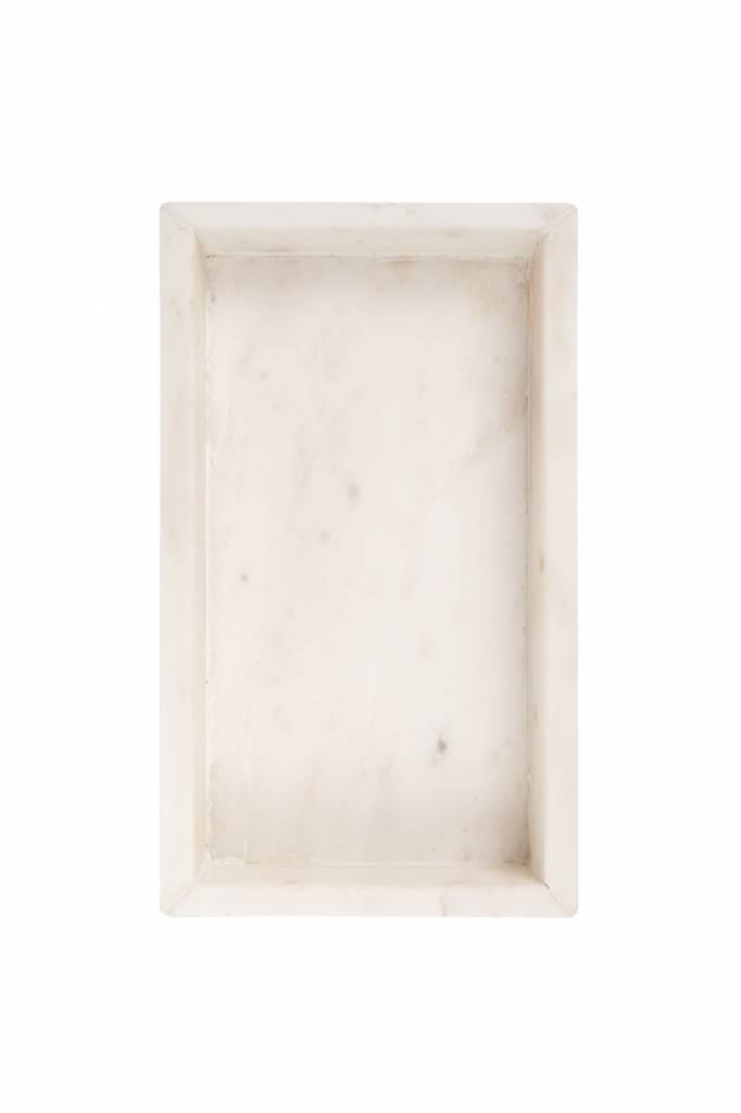 Dienblad marmer - wit 20 cm - Zusss