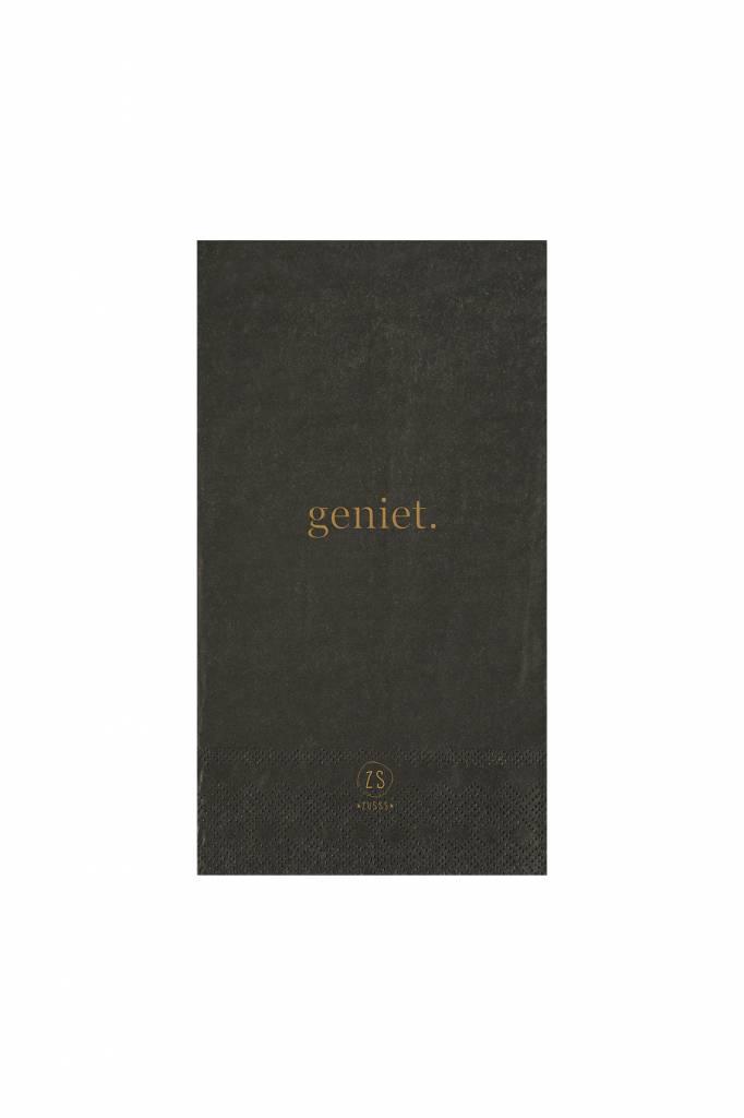 Servetten - Geniet - antraciet - Zusss