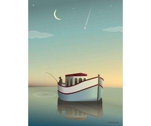 Poster Babykamer Pastel : Poster the fisherman vissevasse eco lover