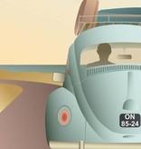 Poster VW beetle - 2 maten - Vissevasse