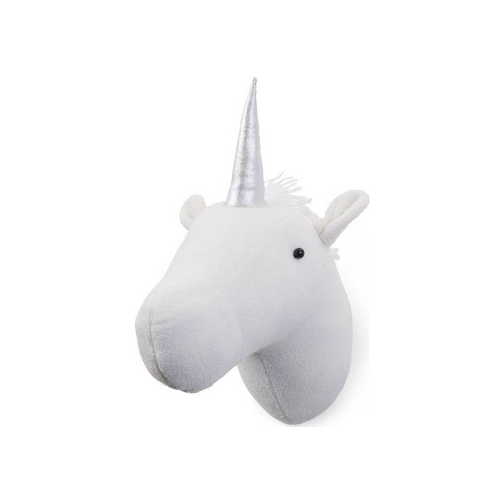 Vilten muurdecoratie Unicorn wit