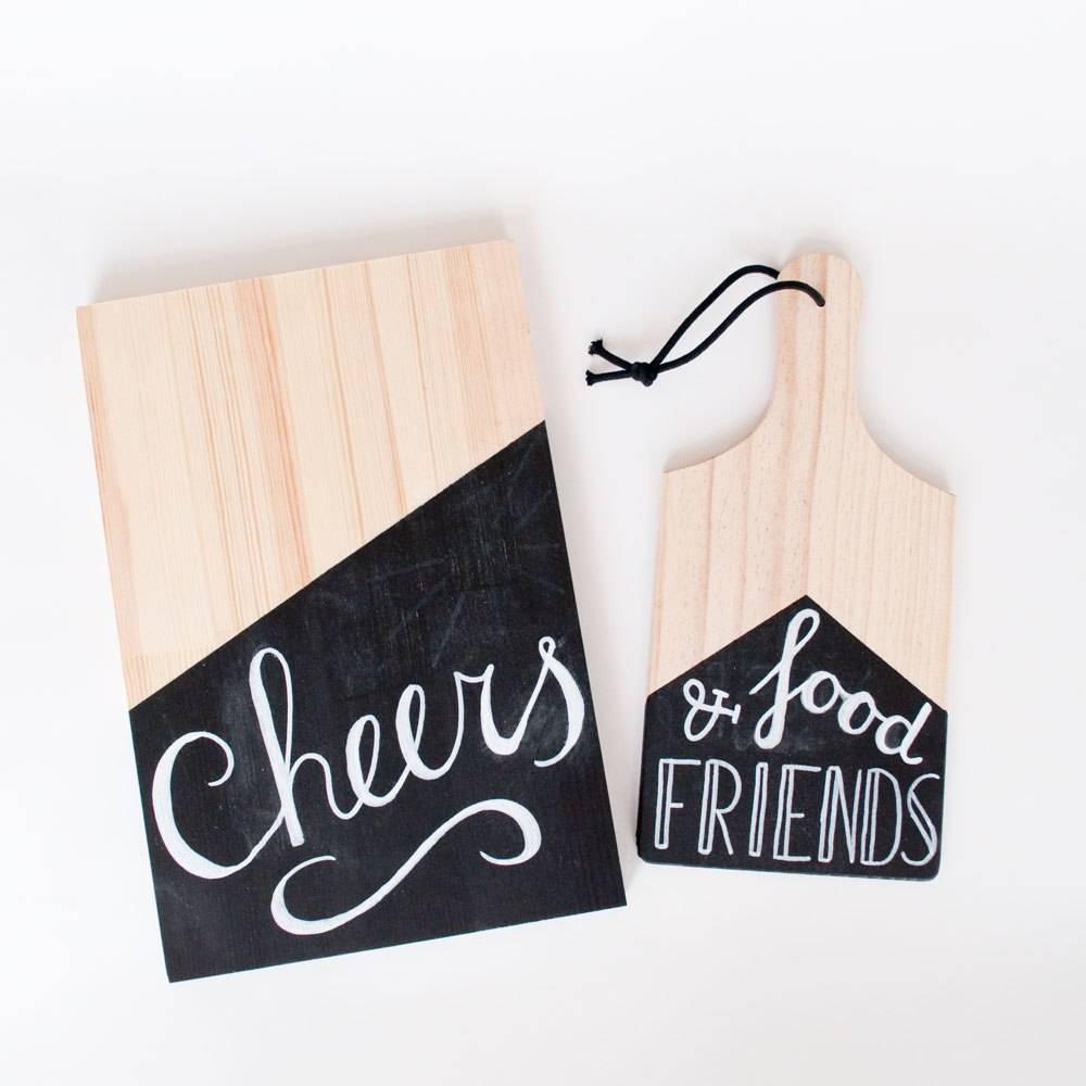 DIY houten snijplanken