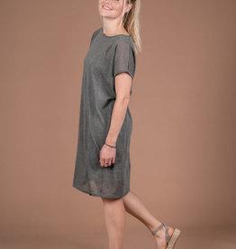 Fijngebreid luchtig jurkje - grijs/groen  - Zusss