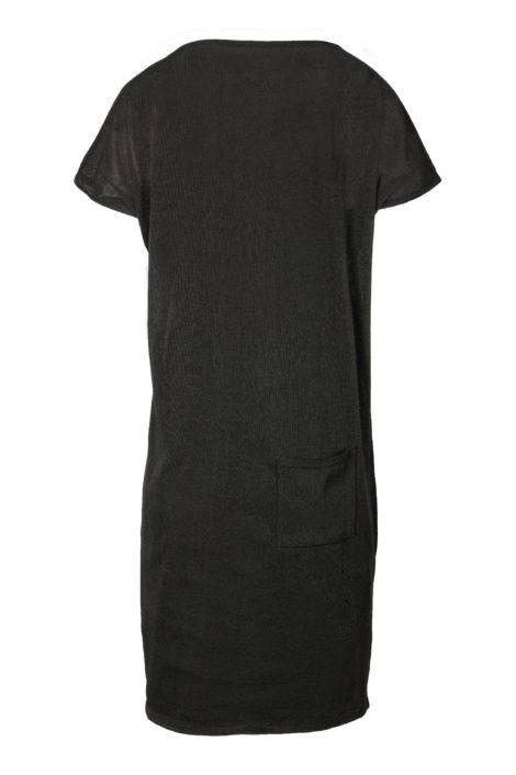 Fijngebreid luchtig jurkje - off black  - Zusss