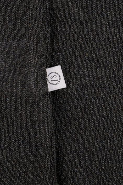 Fijngebreid luchtig jurkje -off black - 4 maten - Zusss