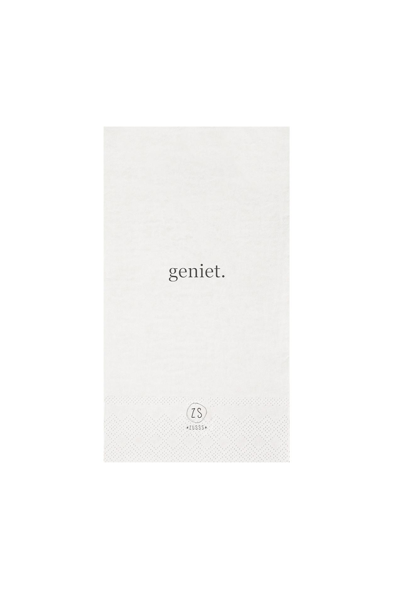 Servetten - Geniet - wit - Zusss