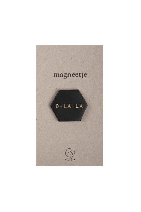 """Magneetje """"o-la-la"""" - Zwart - Zusss"""
