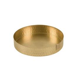 Schaal metaal - Goud 15 cm - Zusss