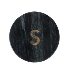 Onderzetter marmer - Letter S zwart - Zusss