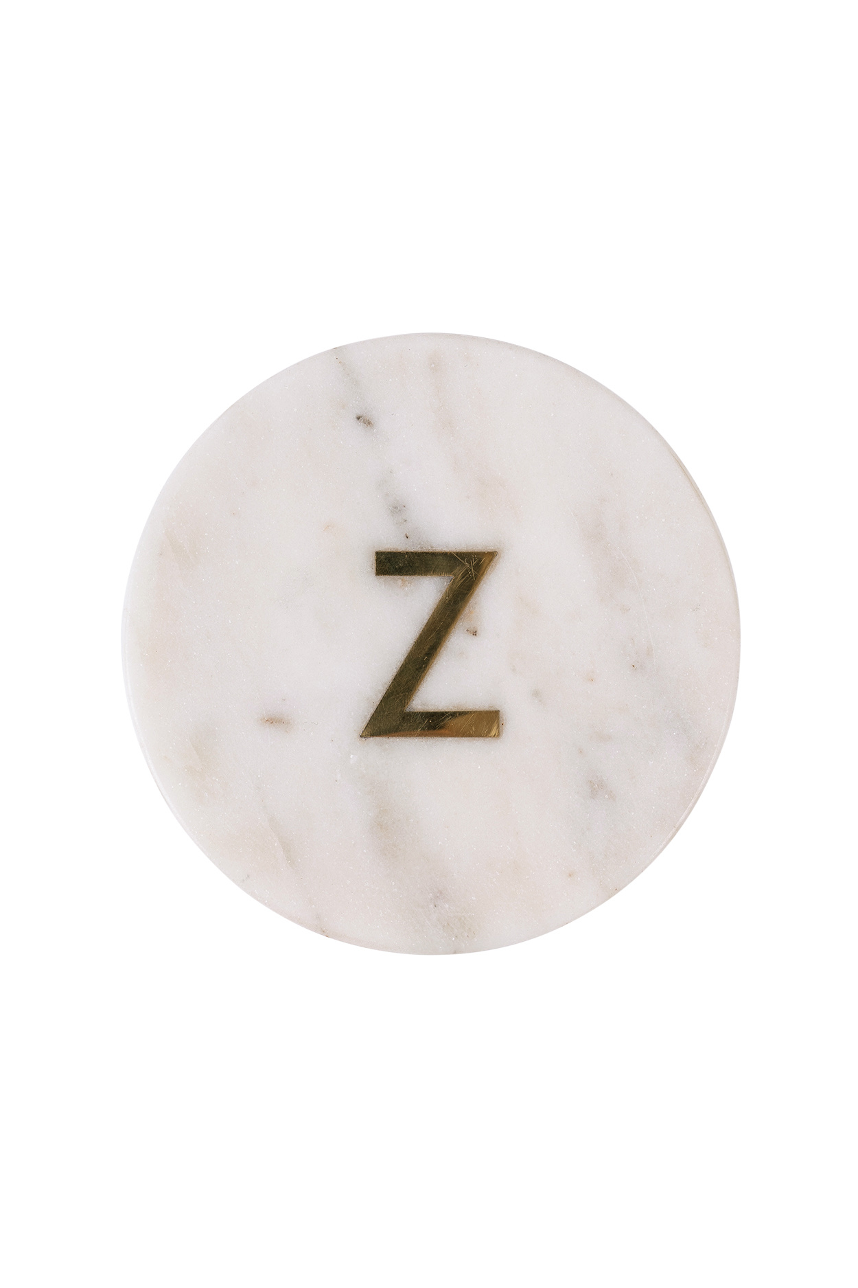 Onderzetter marmer - Letter Z wit - Zusss