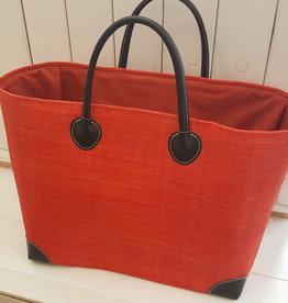Rieten tas - Oranje