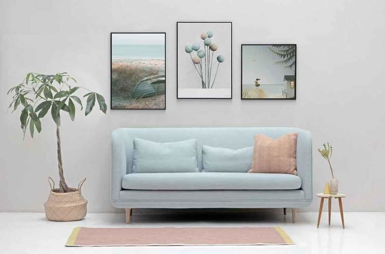 Poster Ocean view - 40x40 - Vissevasse
