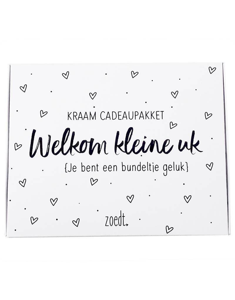 """Cadeaupakket """"Welkom kleine uk"""" - Zoedt"""