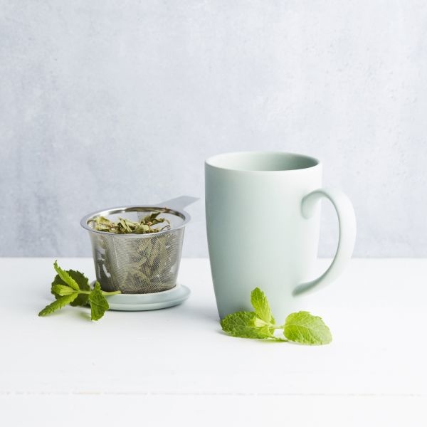 Mok met thee infuser en deksel - 3 kleuren - Point Virgule