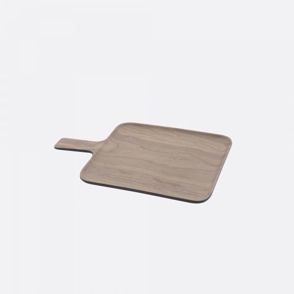 Dienblad met handvatten - Houtlook bruin/zwart - Point Virgule