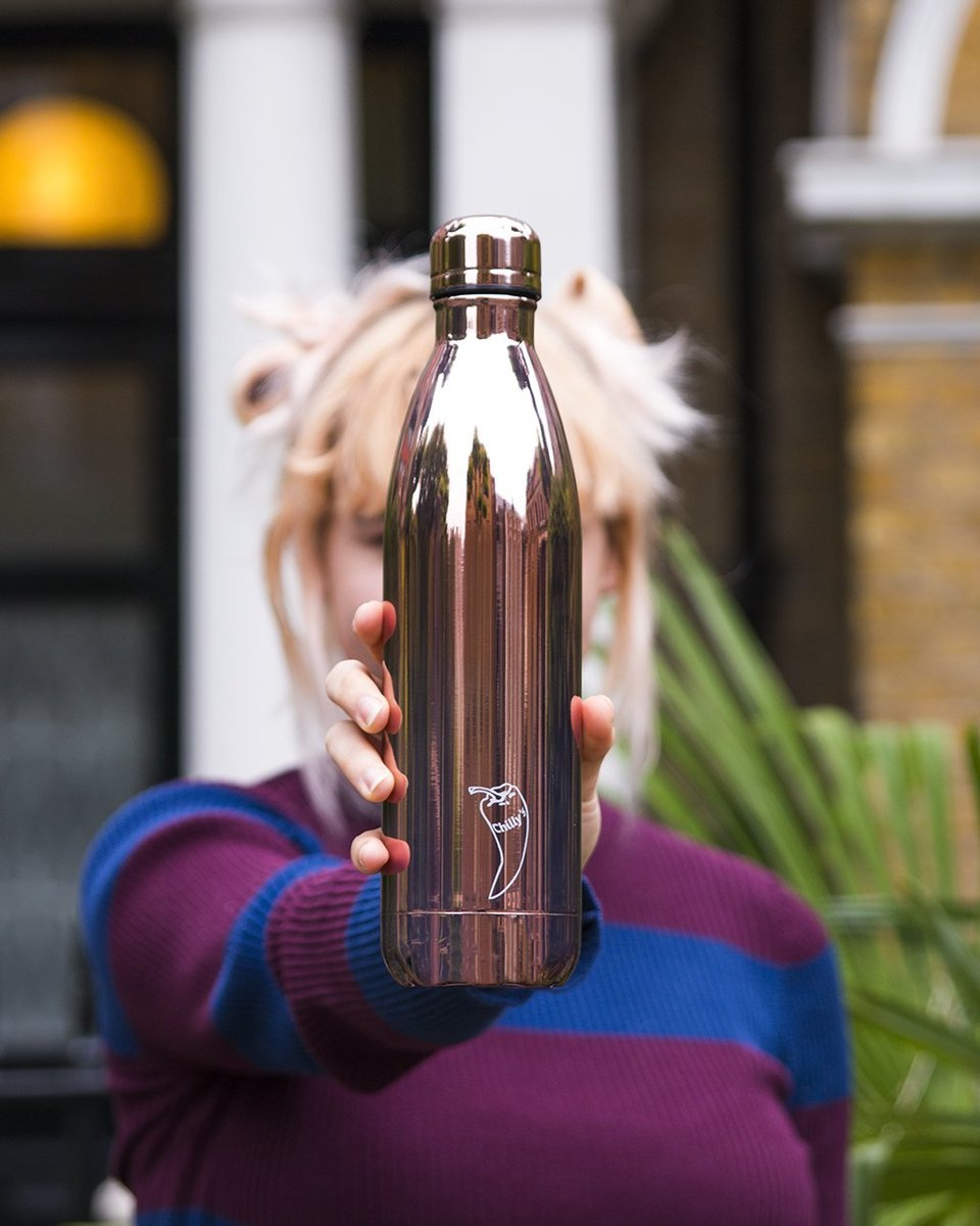 Chilly's Bottle Chrome Rose Gold 750ml