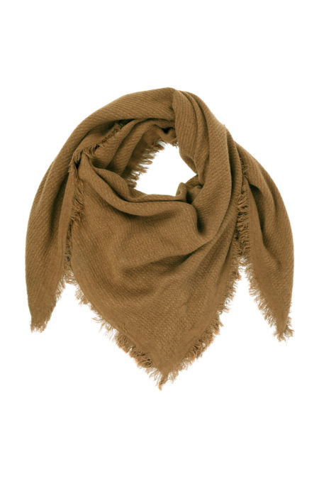Zachte vierkante sjaal gewafeld - 4 kleuren - Zusss