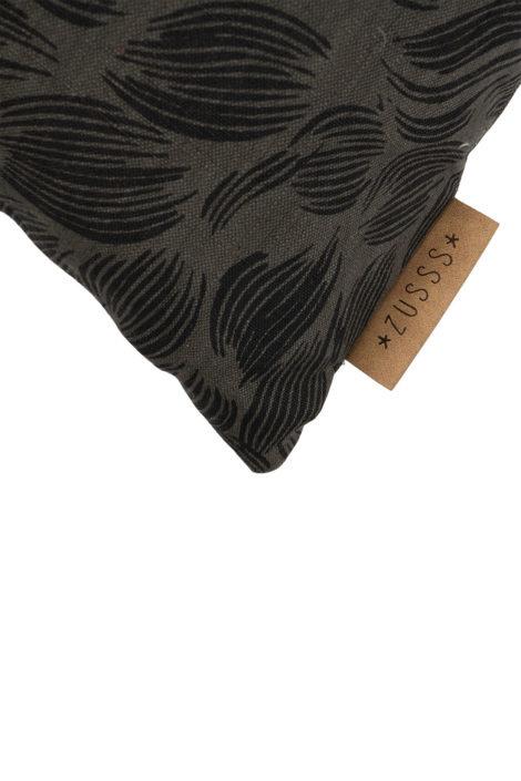 Kussen vachtprint 45x45cm - Donkergrijs - Zusss