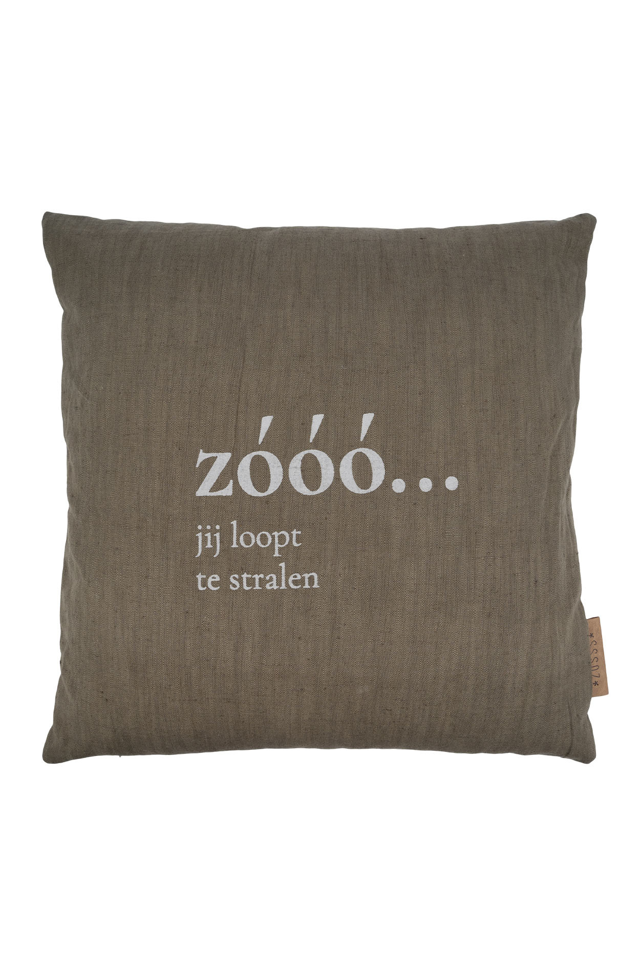 """Kussen """"Zóóó""""  45x45cm - Groen - Zusss"""