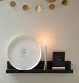Feestelijk bord met gouden rand - Zusss