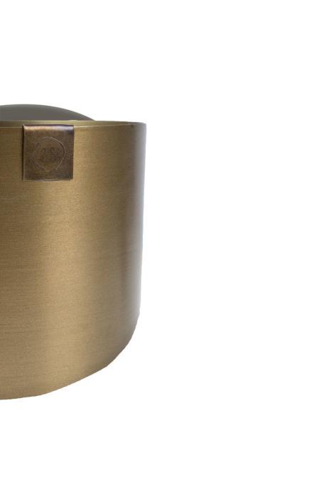 Potje metaal 8cm - 2 kleuren - Zusss