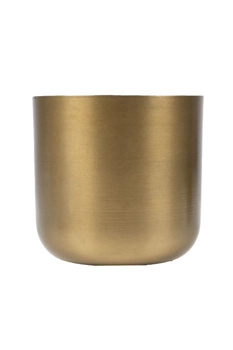 Potje metaal 13cm - 2 kleuren - Zusss