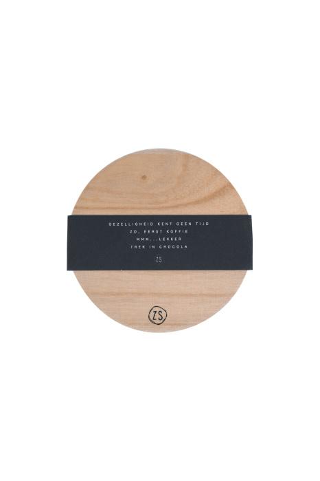 Onderzetters hout met tekst - Zusss