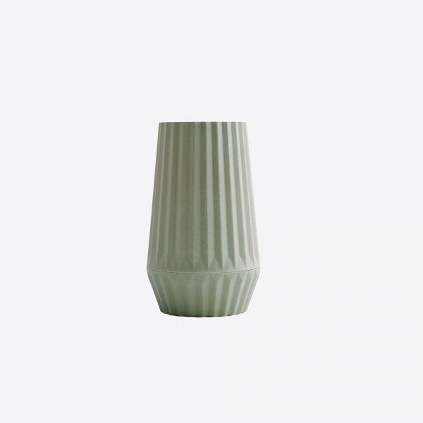 Geribbelde vaas uit bamboe - 3 kleuren - Point Virgule