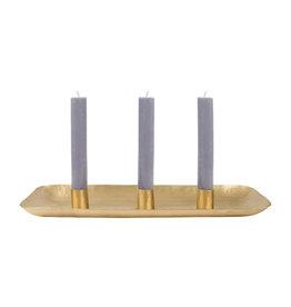 Kaarsenblad metaal goud 30cm