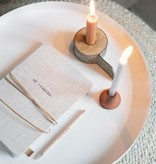 Linnen notitieboekje met veter - 3 uitvoeringen