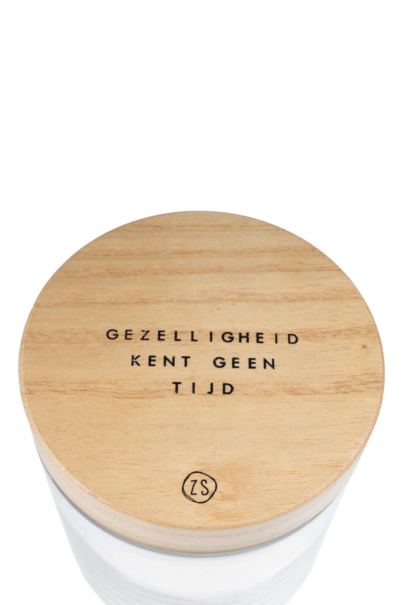 Voorraadpot met houten deksel M - Zusss