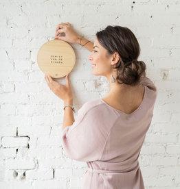 Wandbordje hout 20cm - 4 soorten - Zusss