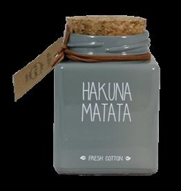 Sojakaars in glas Hakuna Matata