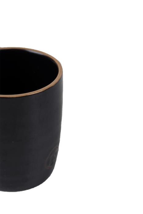 Espresso kopje aardewerk zwart - Zusss