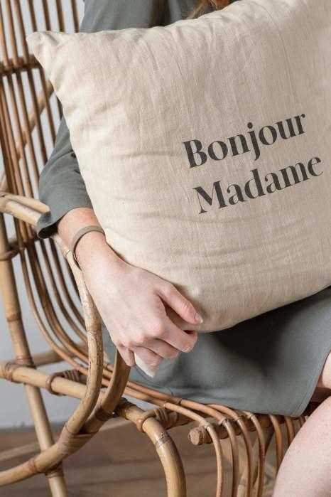 Kussen Bonjour champagne - Zusss