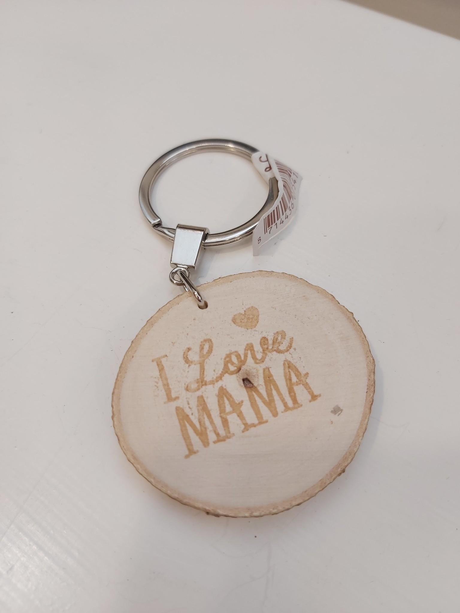 Sleutelhanger boomstam I love mama