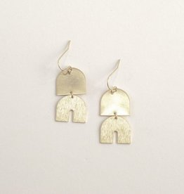 Oorbellen Brass Elephant Dangle Inimini Homemade