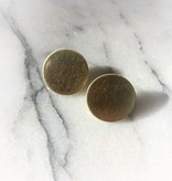 Oorbellen Brass Coin Studs Inimini Homemade