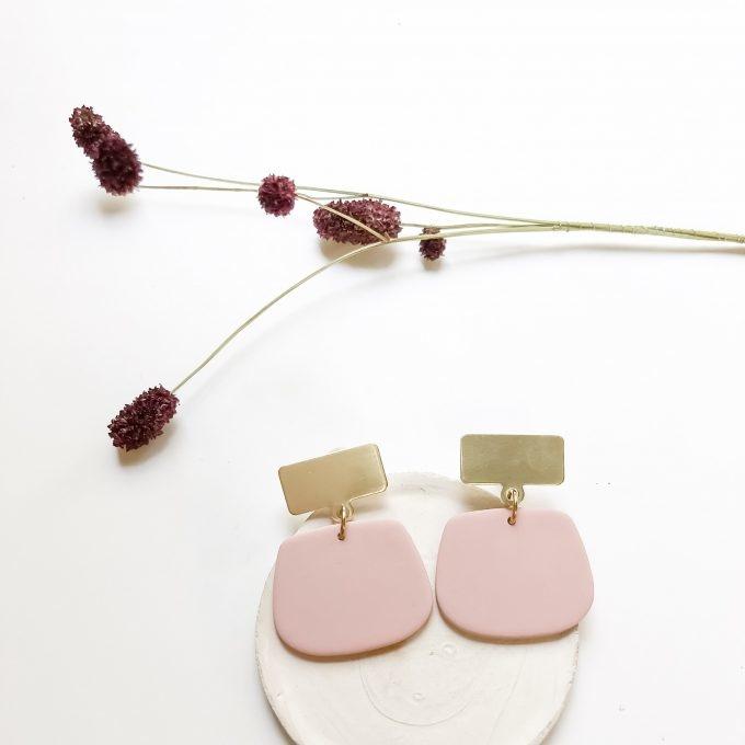 Oorbellen Tinted Lea Pink - Inimini Homemade