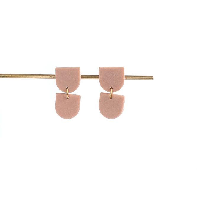 Oorbellen Tinted Didi stud pink - Inimini Homemade - Copy